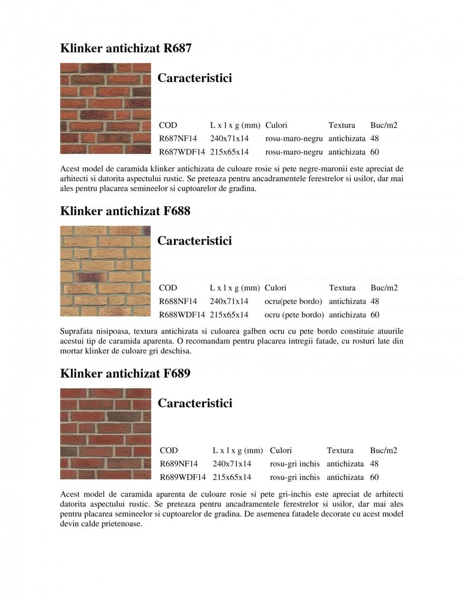 Pagina 2 - Caramida aparenta klinker antichizat FELDHAUS SINTRA F684, SINTRA R687, SINTRA F697,...