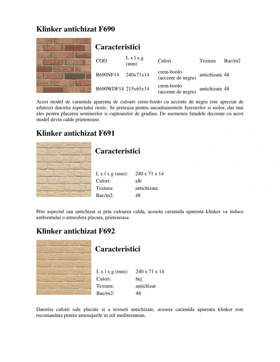 Pagina 3 - Caramida aparenta klinker antichizat FELDHAUS SINTRA F684, SINTRA R687, SINTRA F697,...