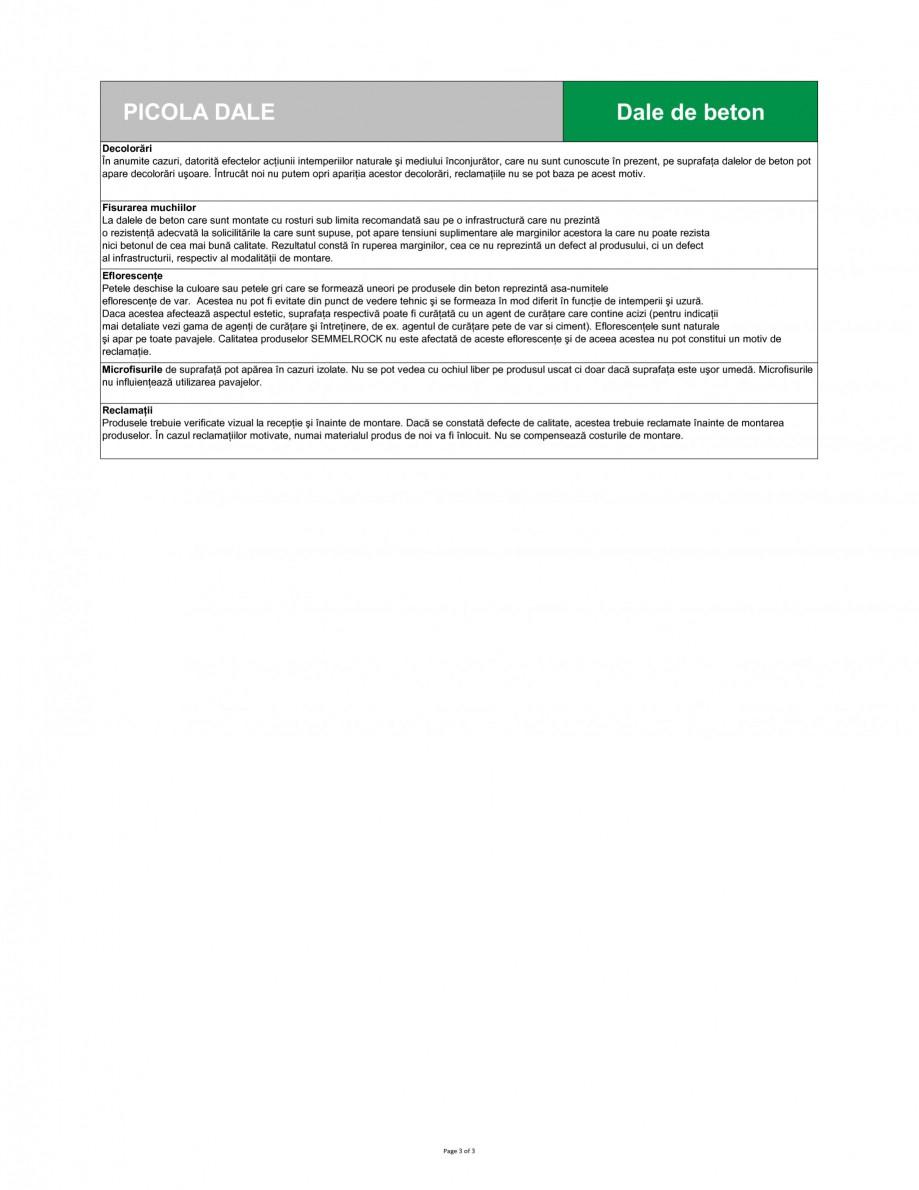 Pagina 3 - Dale din beton SEMMELROCK STEIN+DESIGN PICOLA Fisa tehnica Romana j Avizul pentru...