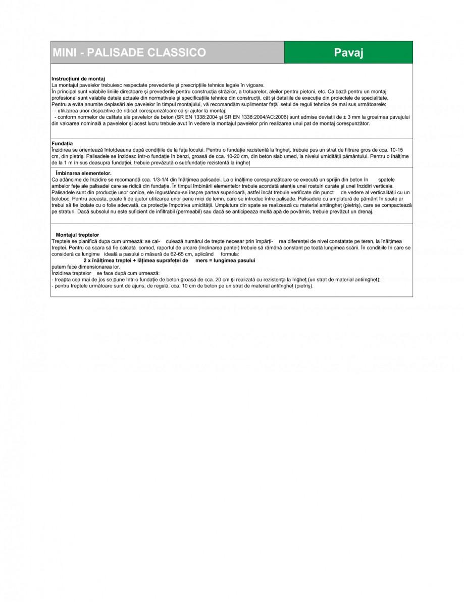Pagina 2 - Mini-palisade SEMMELROCK STEIN+DESIGN Fisa tehnica Romana eme de pavaje STEIN+DESIGN. Din...