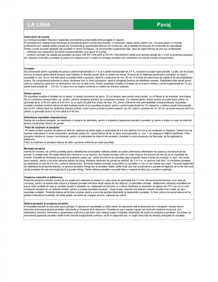 Pagina 2 - Pavaj din beton SEMMELROCK STEIN+DESIGN LA LINIA Fisa tehnica Romana intimă a două...