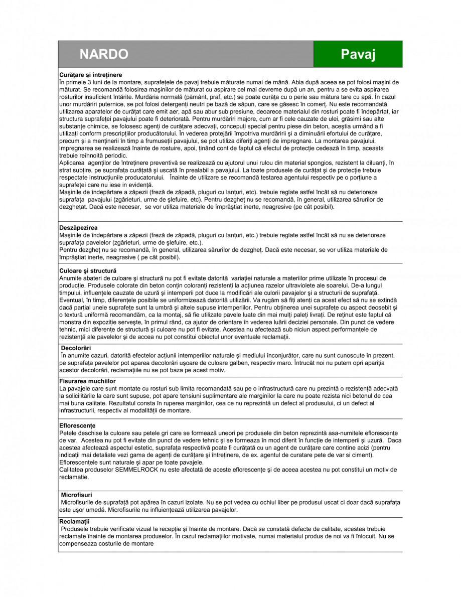 Pagina 4 - Pavaj din beton SEMMELROCK STEIN+DESIGN NARDO Fisa tehnica Romana osimea pavajului din...