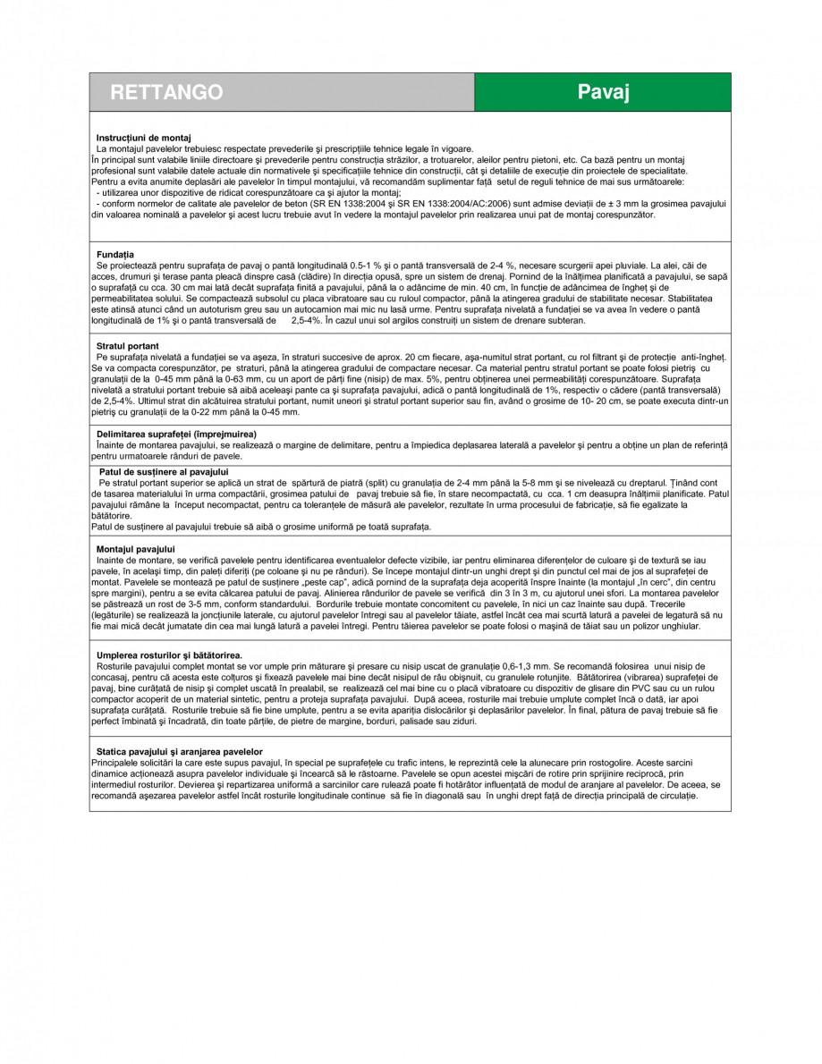 Pagina 2 - Pavaj din beton SEMMELROCK STEIN+DESIGN RETTANGO Fisa tehnica Romana ropresat, realizate ...