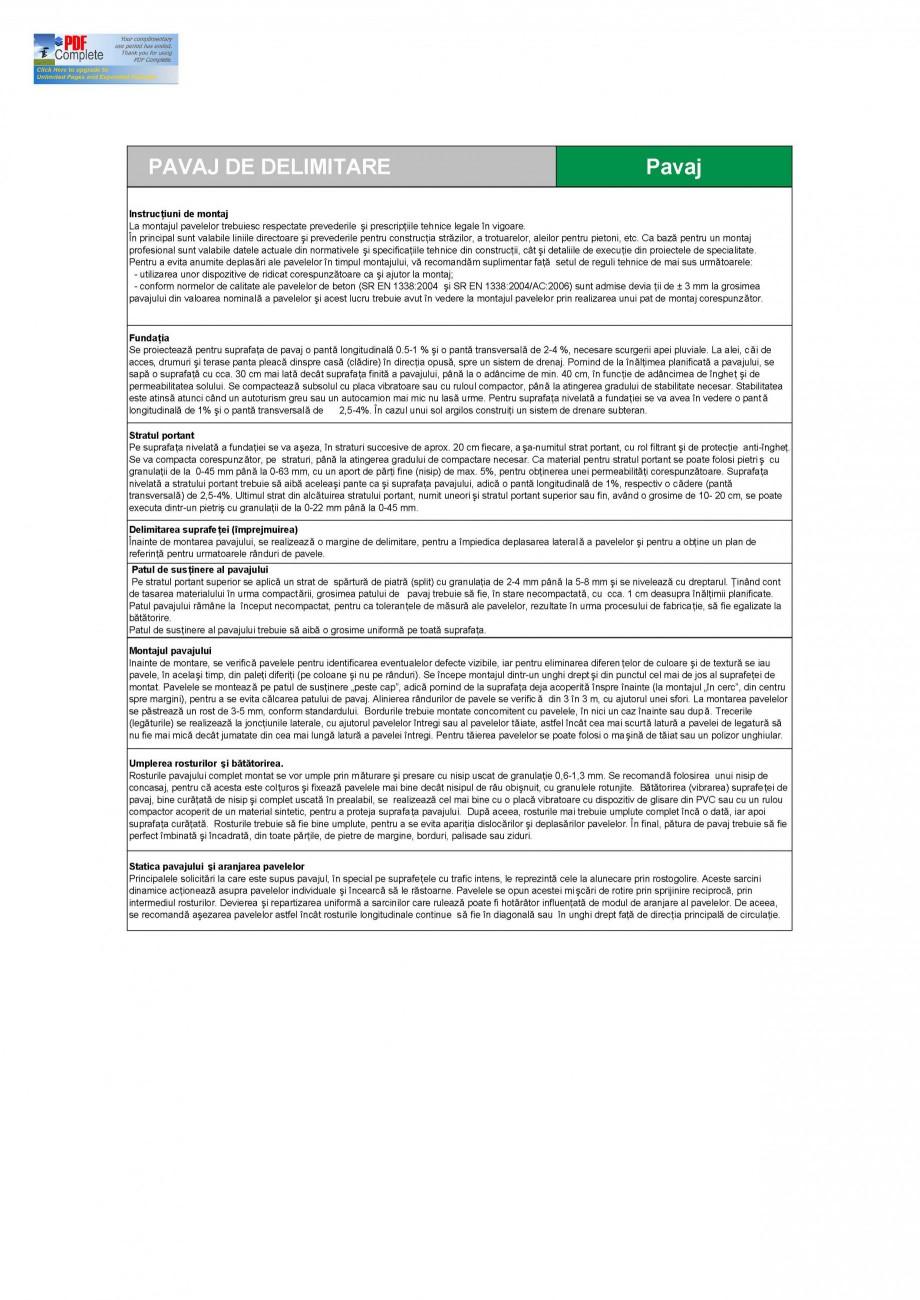 Pagina 2 - Pavaj din beton pentru delimitare SEMMELROCK STEIN+DESIGN Delimitare Gazon Fisa tehnica...