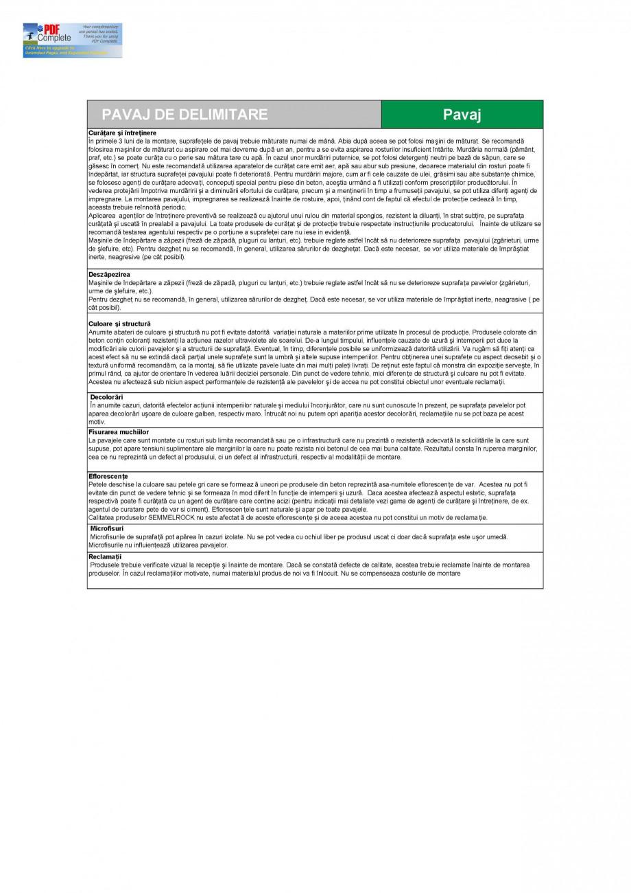 Pagina 3 - Pavaj din beton pentru delimitare SEMMELROCK STEIN+DESIGN Delimitare Gazon Fisa tehnica...