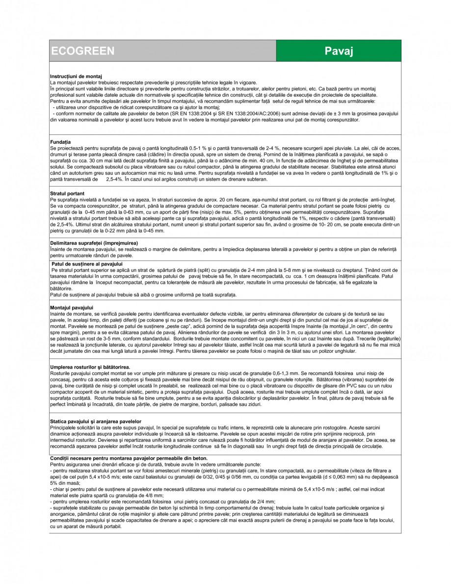Pagina 2 - Pavaj ecologic din beton SEMMELROCK STEIN+DESIGN ECOgreen Fisa tehnica Romana in beton de...