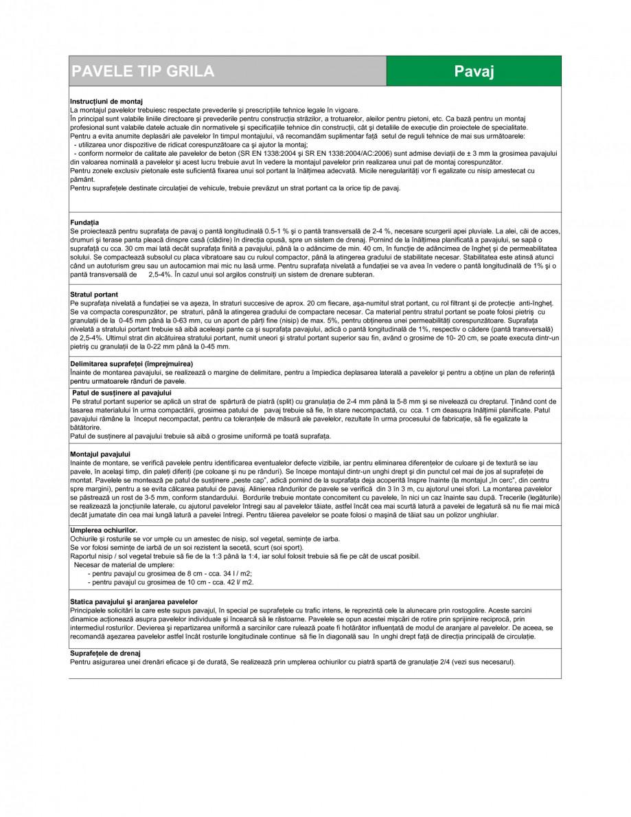 Pagina 2 - Pavaj permeabil din beton SEMMELROCK STEIN+DESIGN PAVAJE GRILA Fisa tehnica Romana ricate...