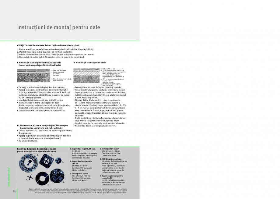 Pagina 1 - Montaj general pentru dale SEMMELROCK STEIN+DESIGN UMBRIANO, LA LINIA, APPIA ANTICA, ARTE...