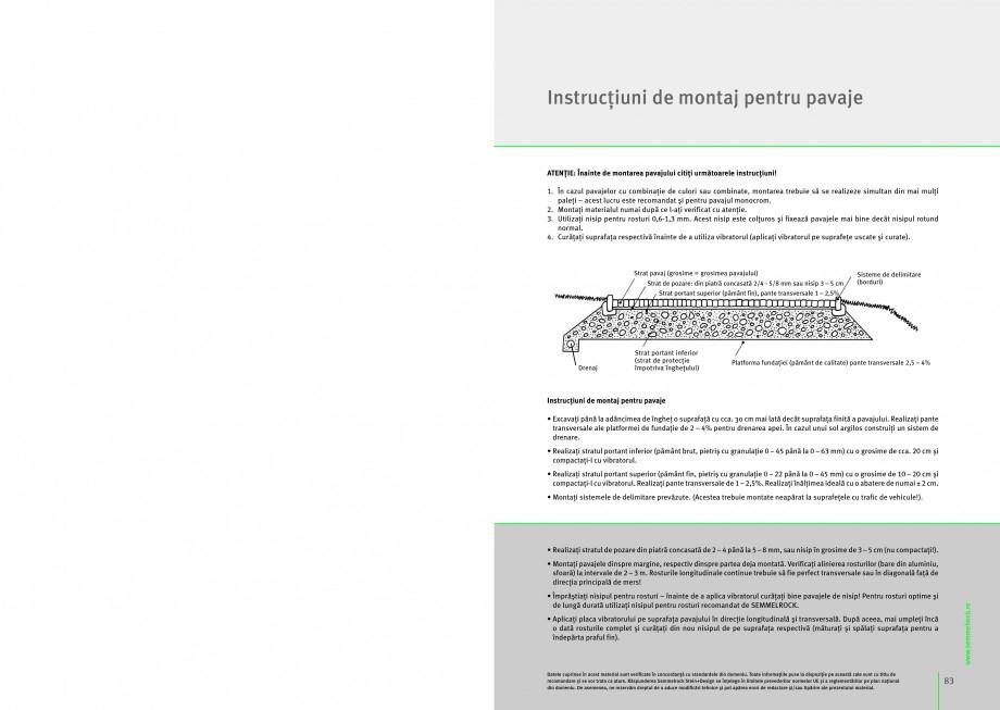 Pagina 1 - Montaj general pentru pavaje SEMMELROCK STEIN+DESIGN APPIA ANTICA, APPIA ANTICA -...