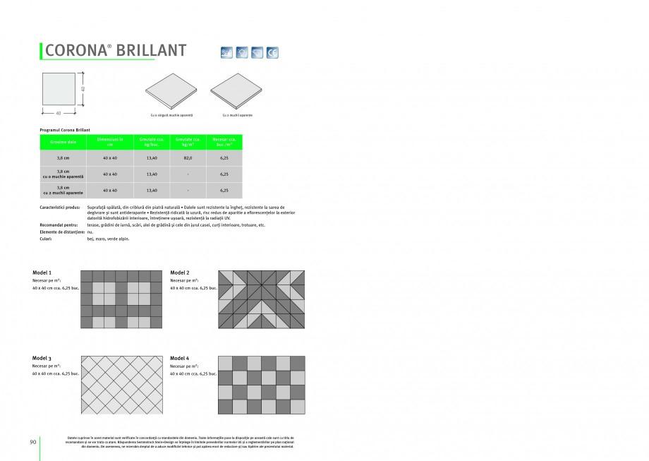 Pagina 1 - Dale din beton SEMMELROCK STEIN+DESIGN CORONA BRILLIANT Instructiuni montaj, utilizare...