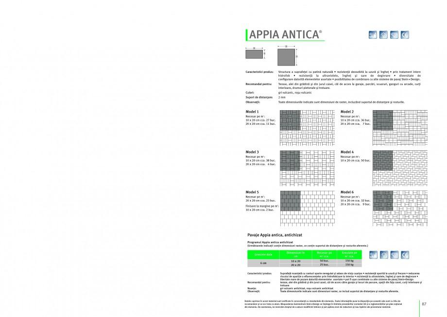 Pagina 1 - Pavaj din beton SEMMELROCK STEIN+DESIGN APPIA ANTICA Instructiuni montaj, utilizare...