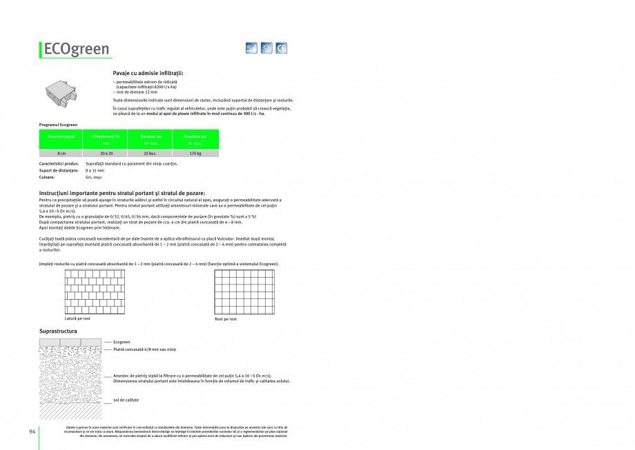 Pagina 1 - Pavaj ecologic din beton SEMMELROCK STEIN+DESIGN ECOgreen Instructiuni montaj, utilizare ...