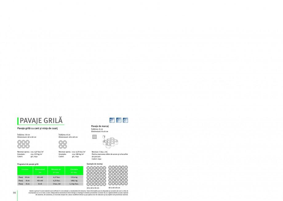 Pagina 1 - Pavaj permeabil din beton SEMMELROCK STEIN+DESIGN PAVAJE GRILA Instructiuni montaj,...