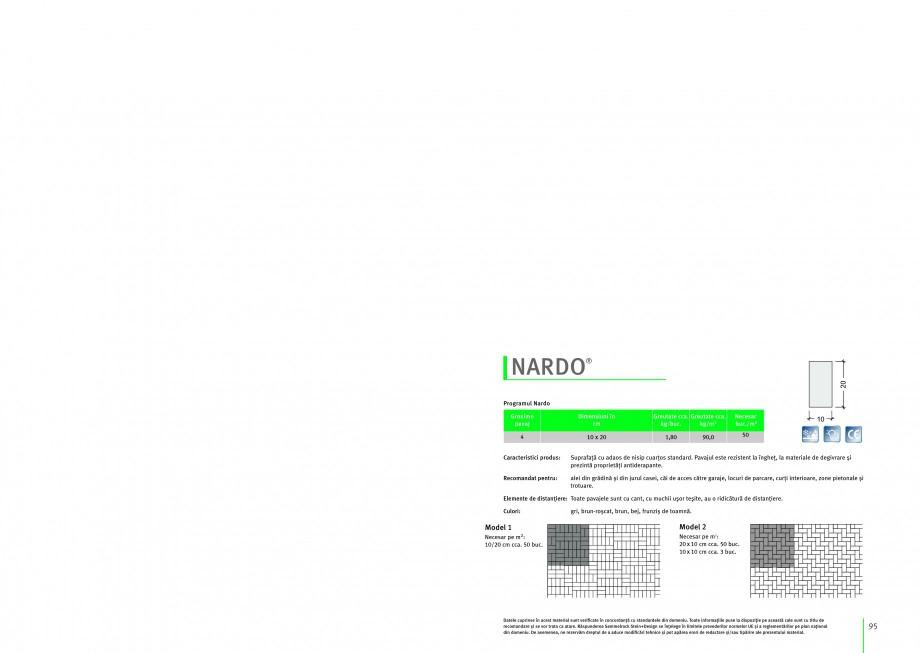 Pagina 1 - Pavaj din beton SEMMELROCK STEIN+DESIGN NARDO Instructiuni montaj, utilizare Romana...