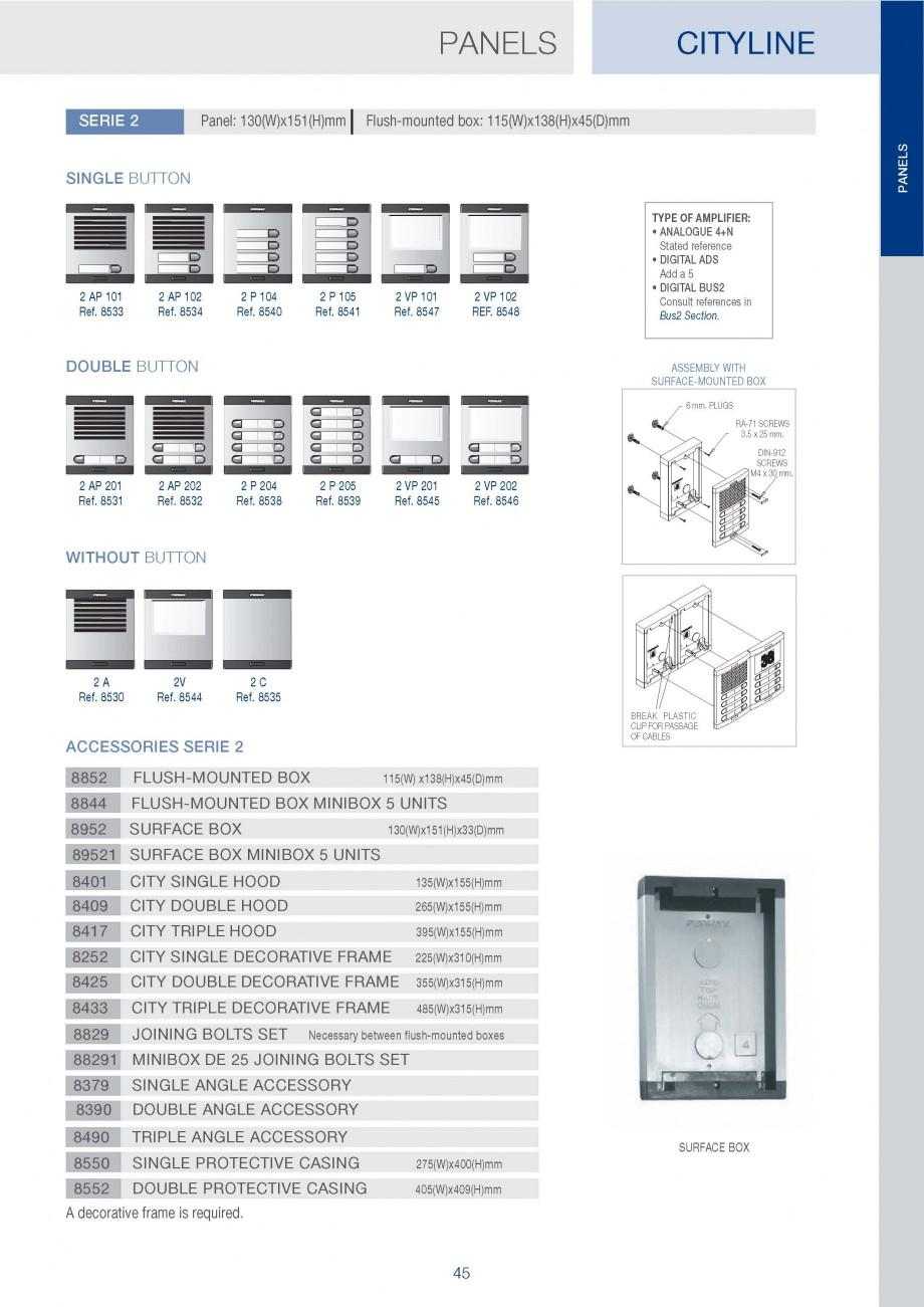 Catalog Brosura Panou Exterior Standard Cityline Fermax