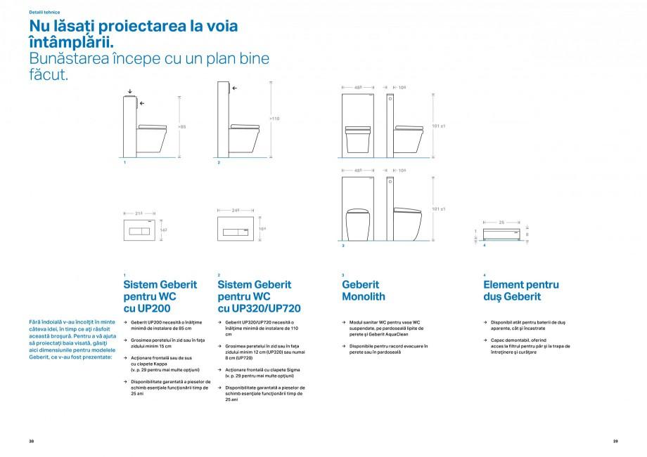 Pagina 1 - Sisteme Geberit pentru WC GEBERIT Monolith Fisa tehnica Romana Detalii tehnice  Nu...