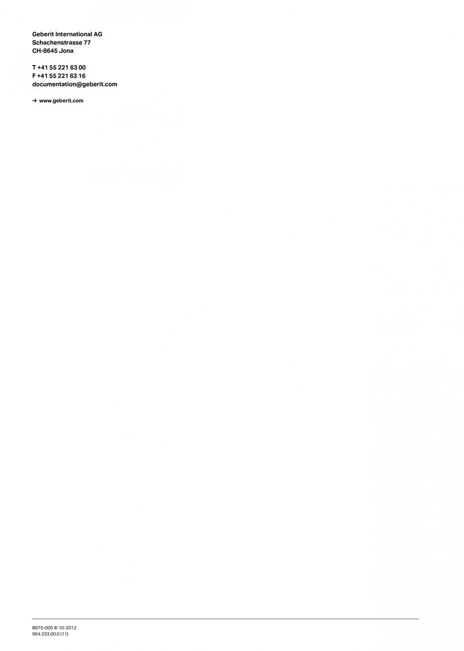 Pagina 56 - Vas WC cu jet de apa reglabil individual 8000plus GEBERIT AquaClean Instructiuni montaj,...