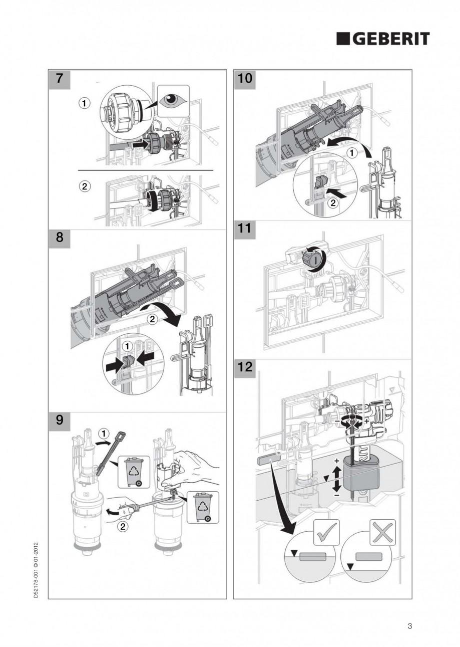 Pagina 3 - Clapeta de actionare electronica Geberit Sigma80 GEBERIT Instructiuni montaj, utilizare...