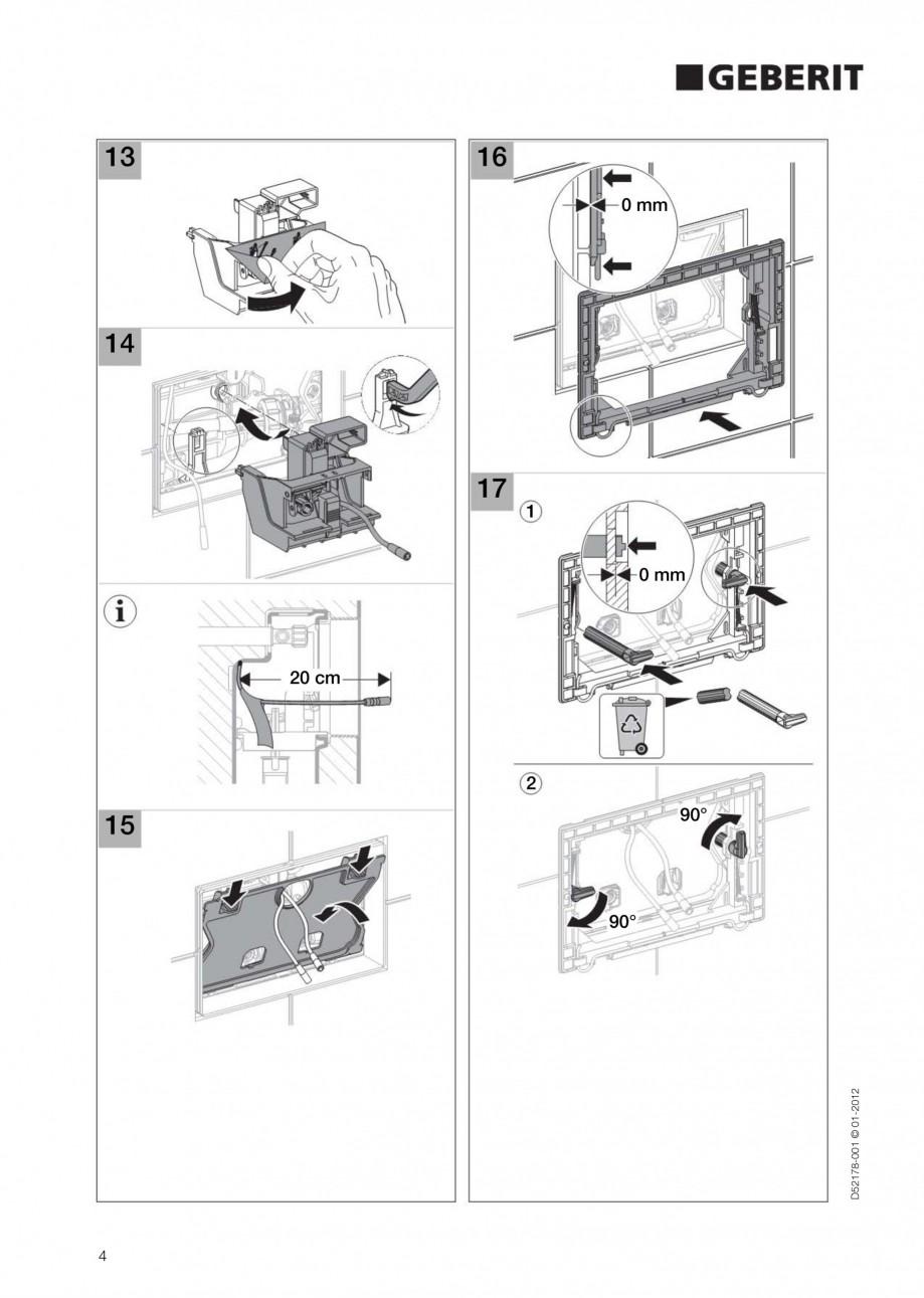 Pagina 4 - Clapeta de actionare electronica Geberit Sigma80 GEBERIT Instructiuni montaj, utilizare...