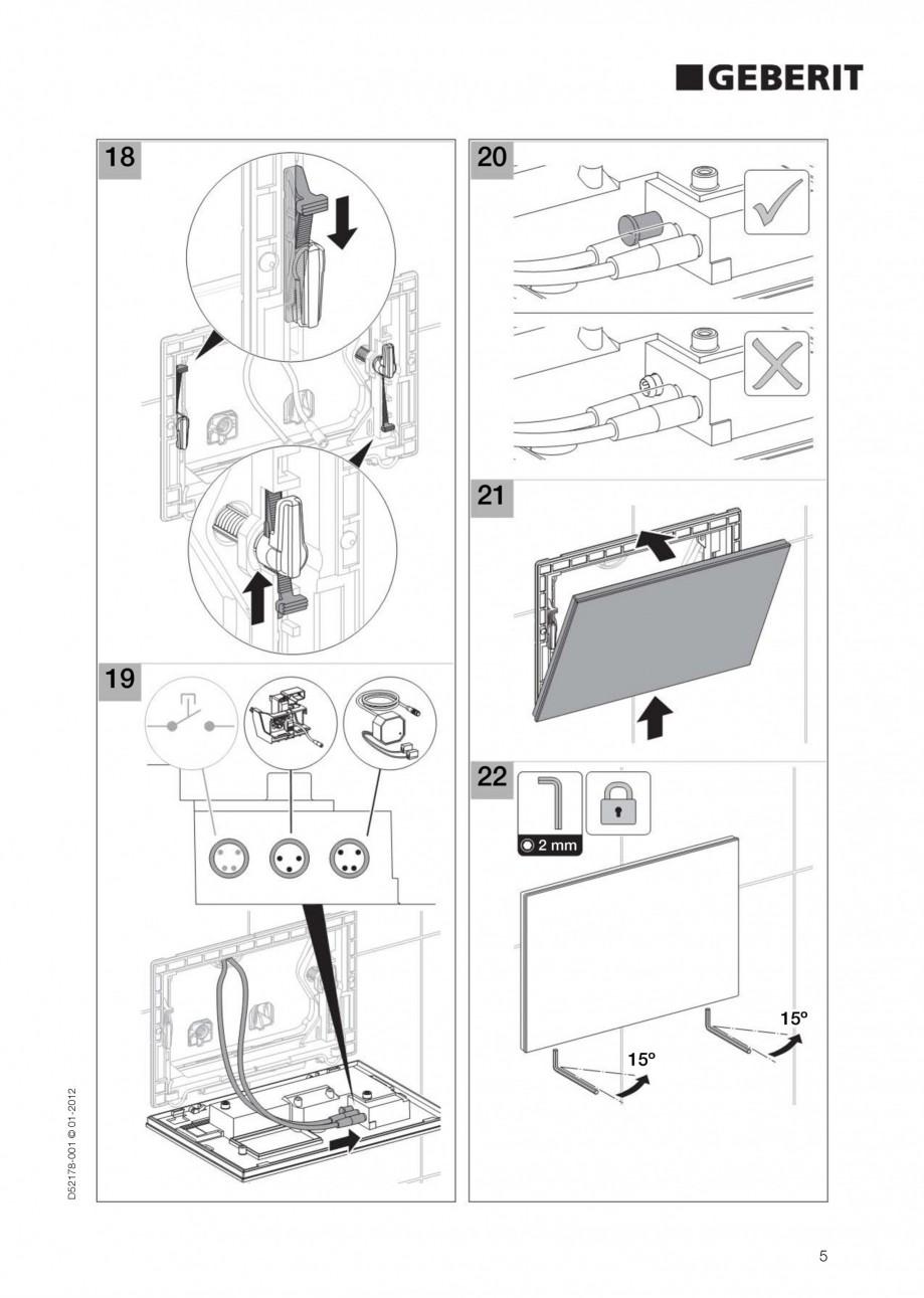 Pagina 5 - Clapeta de actionare electronica Geberit Sigma80 GEBERIT Instructiuni montaj, utilizare...