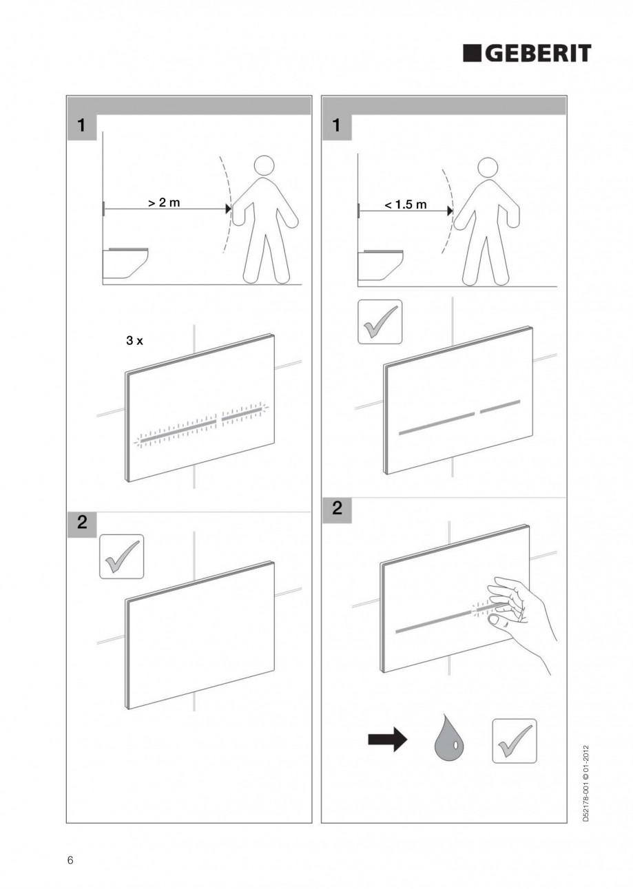 Pagina 6 - Clapeta de actionare electronica Geberit Sigma80 GEBERIT Instructiuni montaj, utilizare...