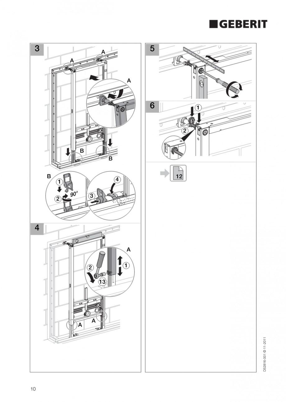 Pagina 10 - Rezervor incastrat Duofix pentru bideu GEBERIT Instructiuni montaj, utilizare Engleza