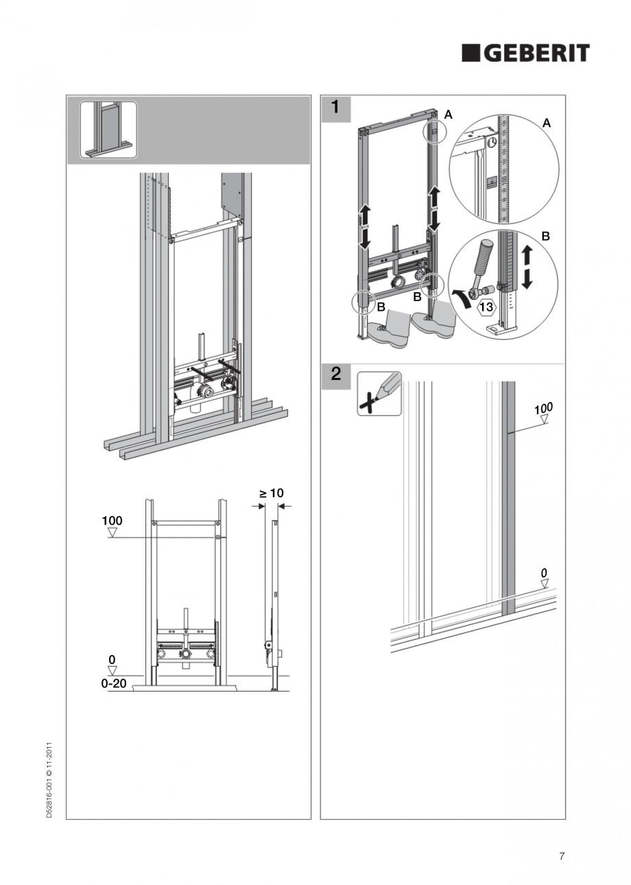 Pagina 7 - Rezervor incastrat Duofix pentru bideu GEBERIT Instructiuni montaj, utilizare Engleza