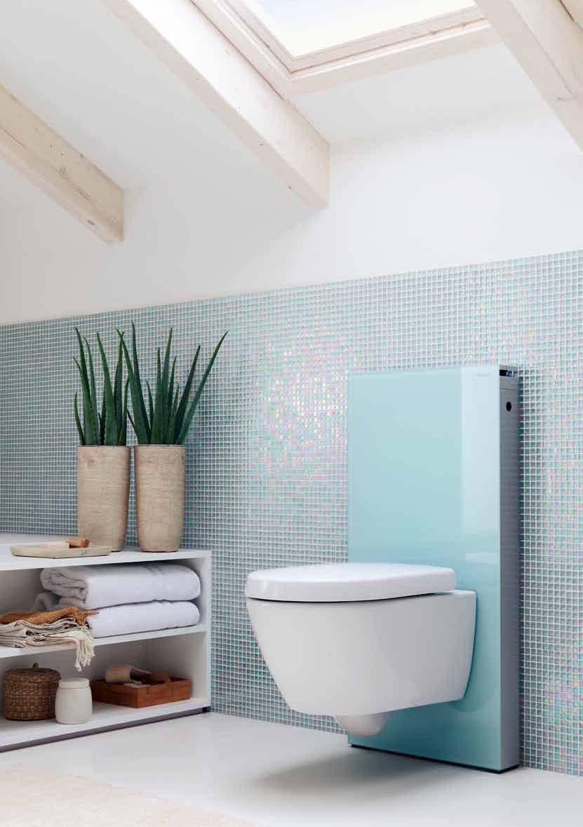 Amenajari camere de baie cu sisteme de WC incastrate GEBERIT - Poza 29