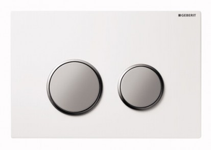 Clapete de actionare Sigma / Clapeta Geberit Sigma20 alb cromat mat