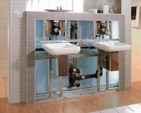 Prezentare produs Amenajari camere de baie cu sisteme de WC incastrate GEBERIT - Poza 4