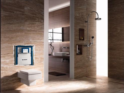 Amenajari camere de baie cu sisteme de WC incastrate GEBERIT - Poza 10