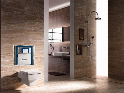 Prezentare produs Amenajari camere de baie cu sisteme de WC incastrate GEBERIT - Poza 10