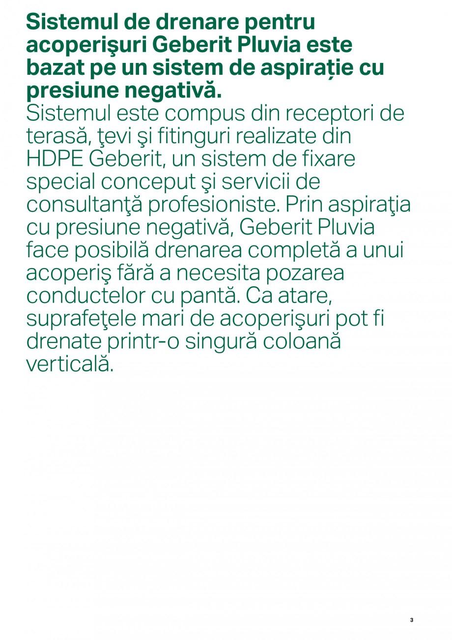 Pagina 3 - Sistemul de drenare pentru acoperisuri Geberit Pluvia GEBERIT Catalog, brosura Romana ...