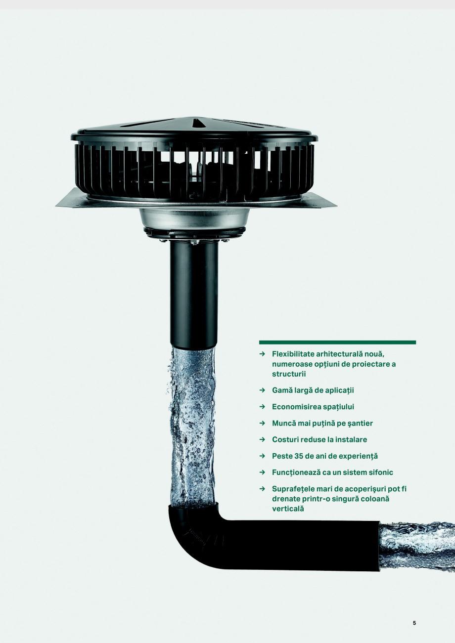 Pagina 5 - Sistemul de drenare pentru acoperisuri Geberit Pluvia GEBERIT Catalog, brosura Romana Pur...