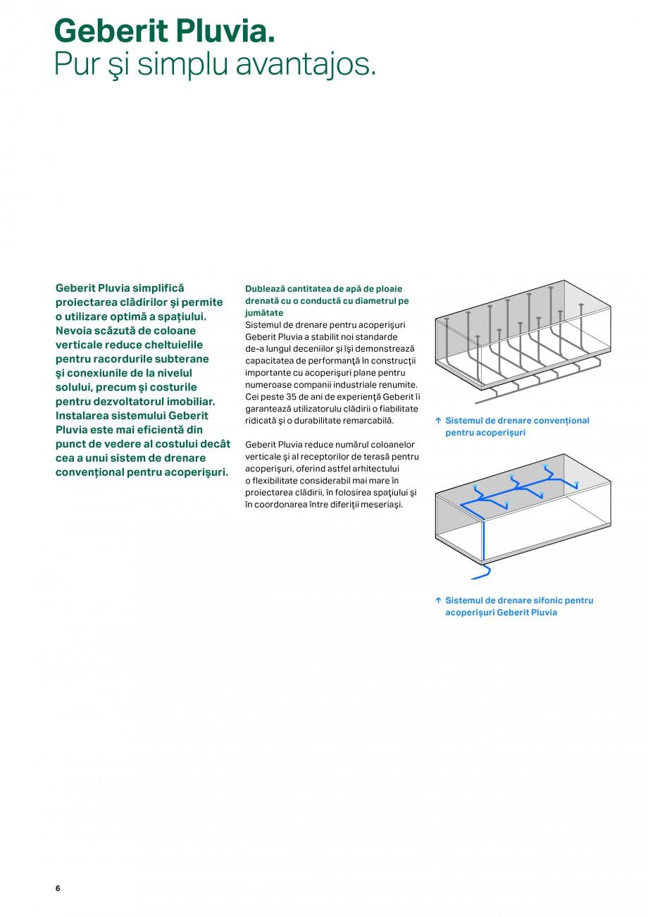 Pagina 6 - Sistemul de drenare pentru acoperisuri Geberit Pluvia GEBERIT Catalog, brosura Romana şi...