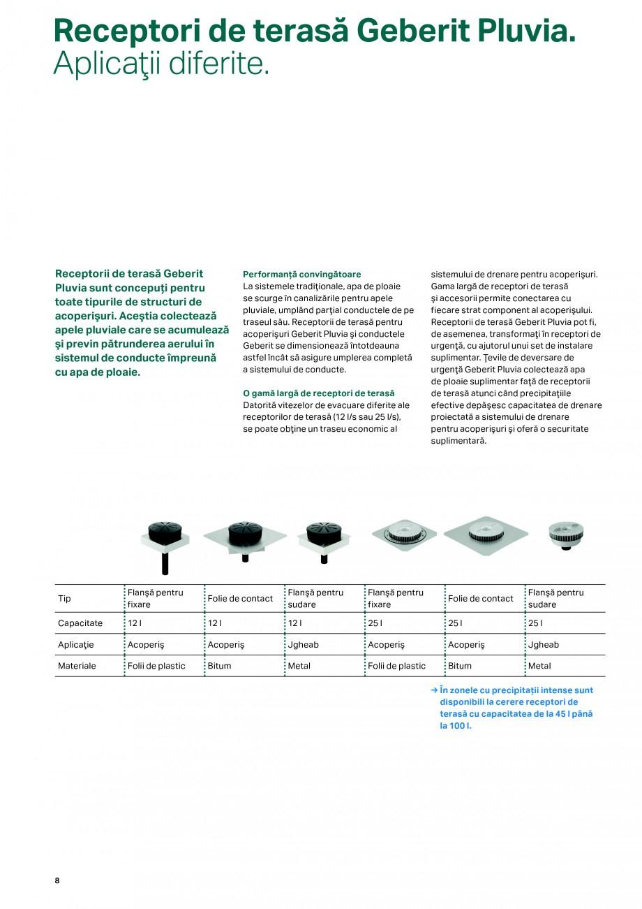 Pagina 8 - Sistemul de drenare pentru acoperisuri Geberit Pluvia GEBERIT Catalog, brosura Romana e...