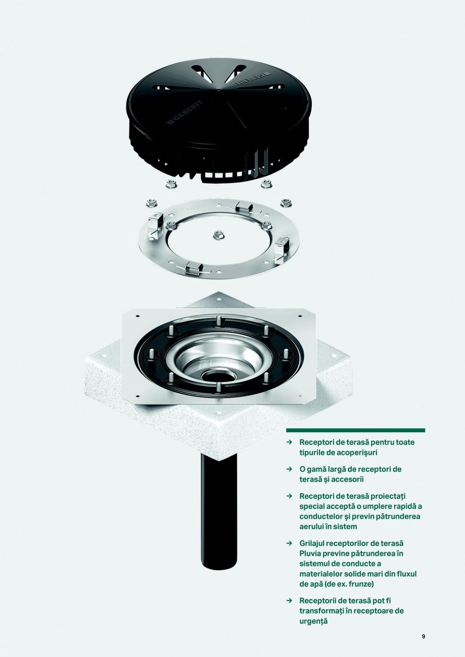 Pagina 9 - Sistemul de drenare pentru acoperisuri Geberit Pluvia GEBERIT Catalog, brosura Romana ...