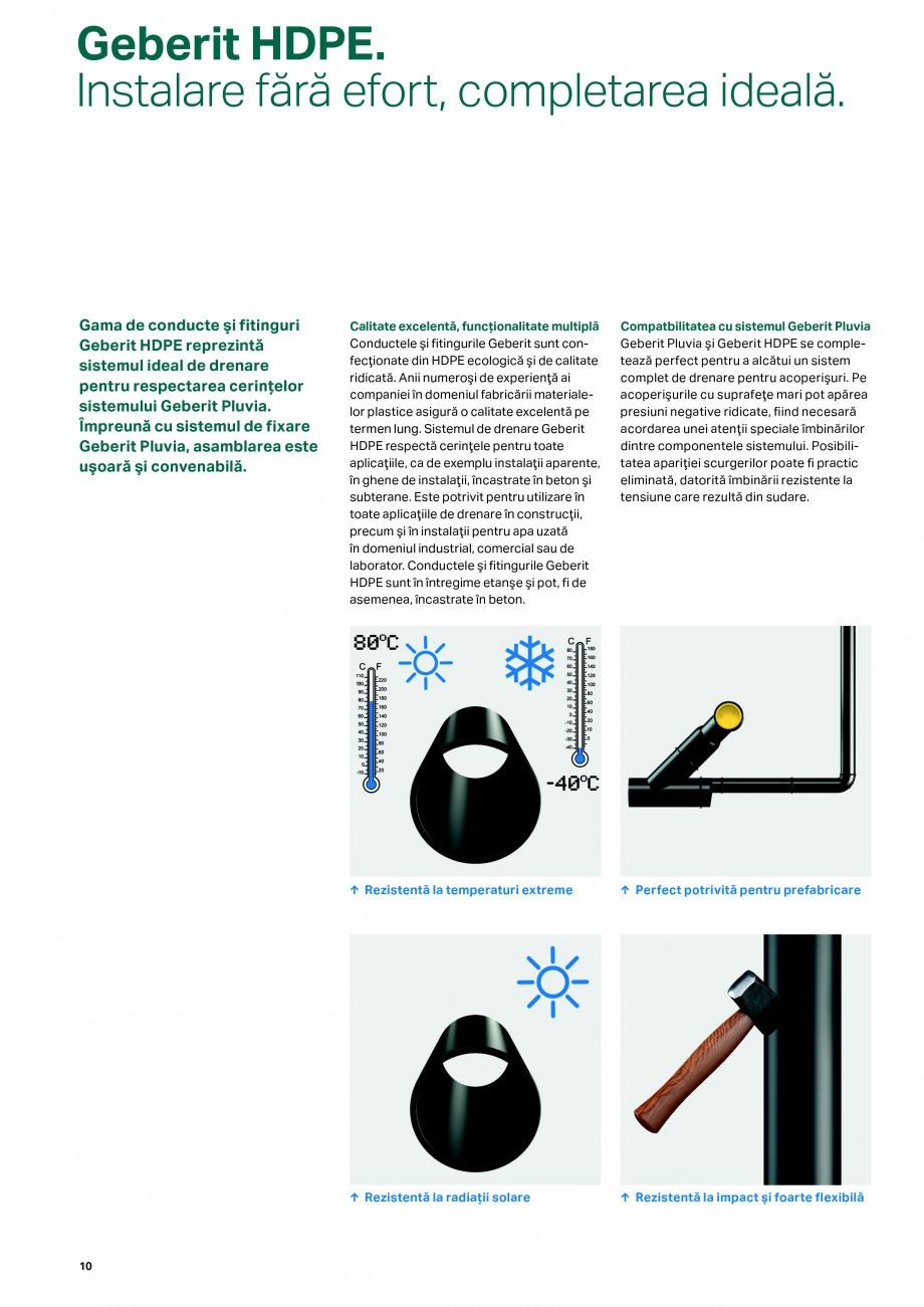 Pagina 10 - Sistemul de drenare pentru acoperisuri Geberit Pluvia GEBERIT Catalog, brosura Romana...