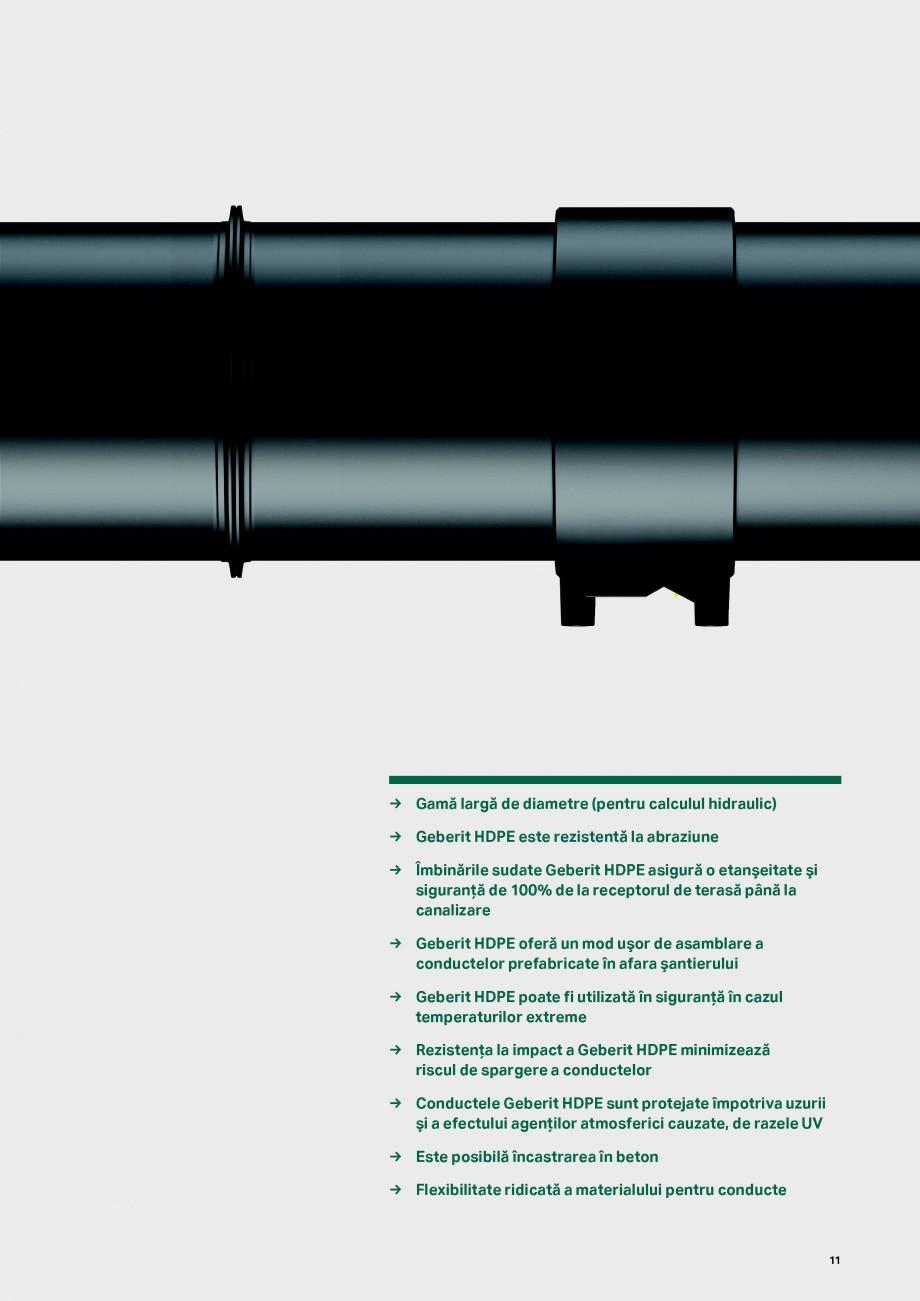 Pagina 11 - Sistemul de drenare pentru acoperisuri Geberit Pluvia GEBERIT Catalog, brosura Romana...