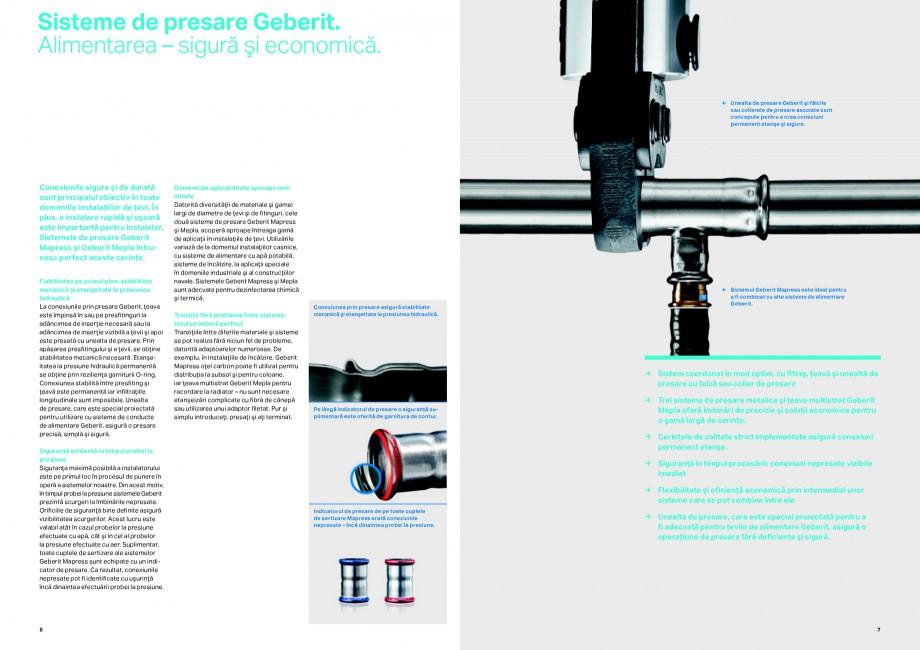 Pagina 4 - Sisteme de alimentare Geberit GEBERIT Catalog, brosura Romana toate cuplele de sertizare ...