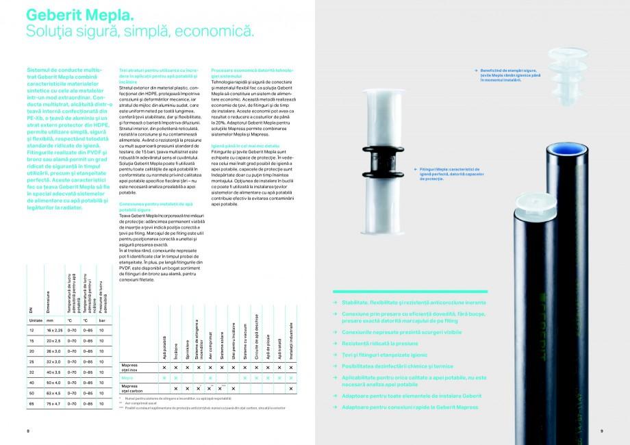 Pagina 5 - Sisteme de alimentare Geberit GEBERIT Catalog, brosura Romana plu, în instalaţiile de...