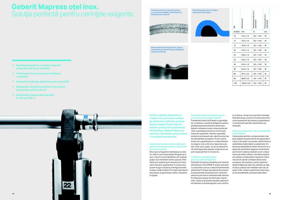 Pagina 8 - Sisteme de alimentare Geberit GEBERIT Catalog, brosura Romana e fi utilizată pentru...