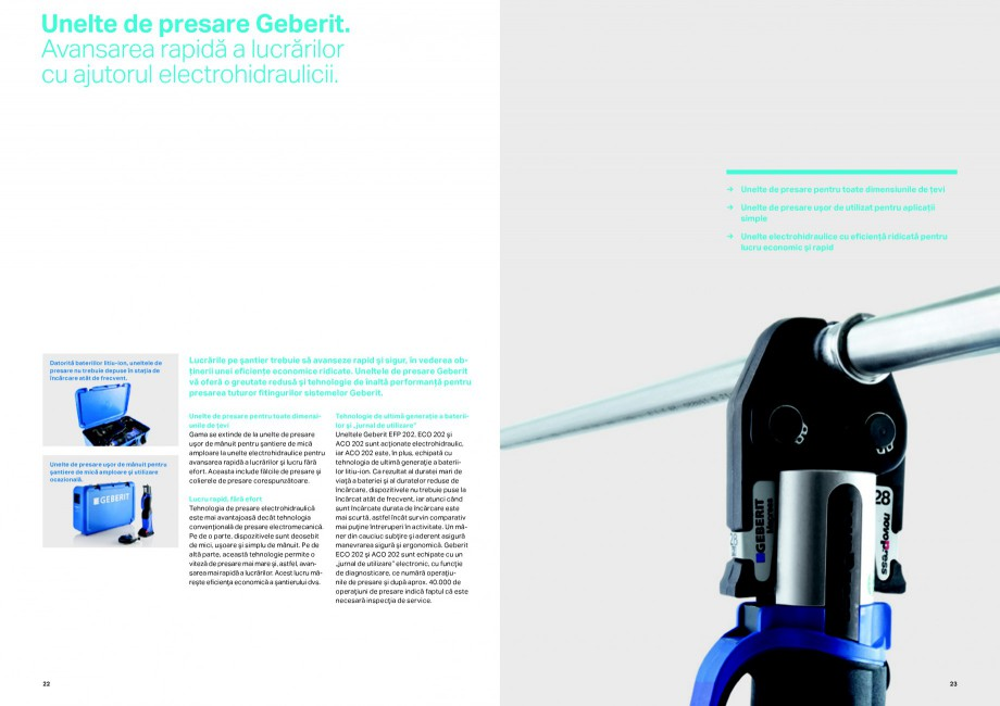 Pagina 12 - Sisteme de alimentare Geberit GEBERIT Catalog, brosura Romana ferioară acestora şi o...