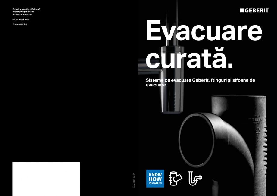 Pagina 1 - Sisteme de evacuare Geberit, fitinguri si sifoane de evacuare GEBERIT Catalog, brosura...