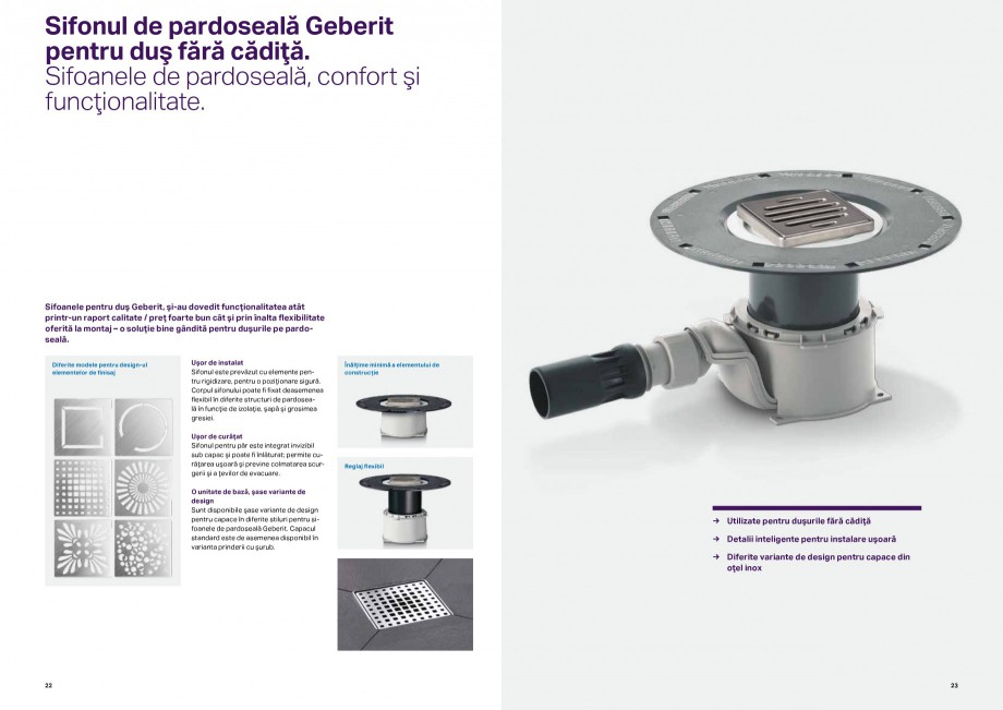 Pagina 12 - Sisteme de evacuare Geberit, fitinguri si sifoane de evacuare GEBERIT Catalog, brosura...