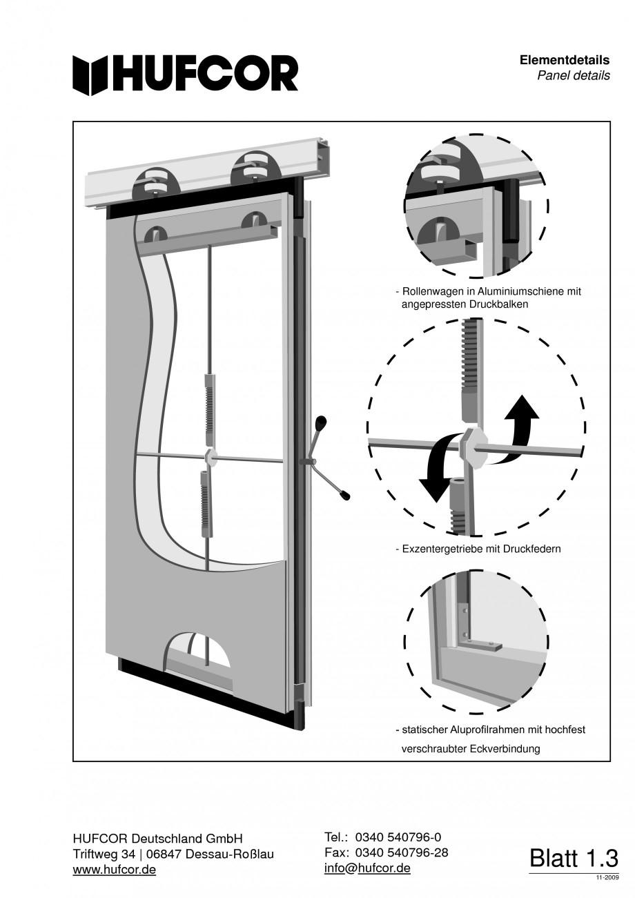 Pagina 4 - Pereti amovibili HUFCOR Fisa tehnica Engleza, Germana erent possibilities for panel faces...