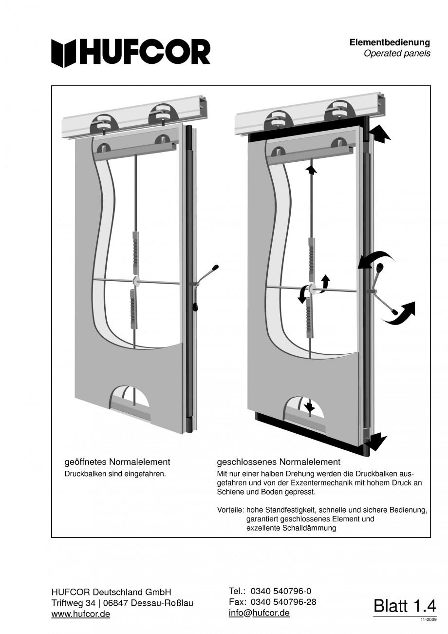 Pagina 5 - Pereti amovibili HUFCOR Fisa tehnica Engleza, Germana .hufcor.de  Tel.: 0340 540796-0...