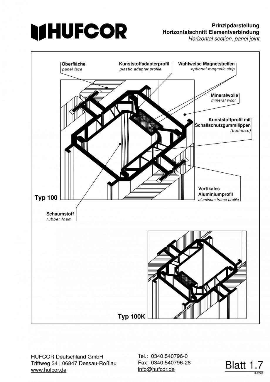 Pagina 8 - Pereti amovibili HUFCOR Fisa tehnica Engleza, Germana c are possible 1 point type 40 180 ...