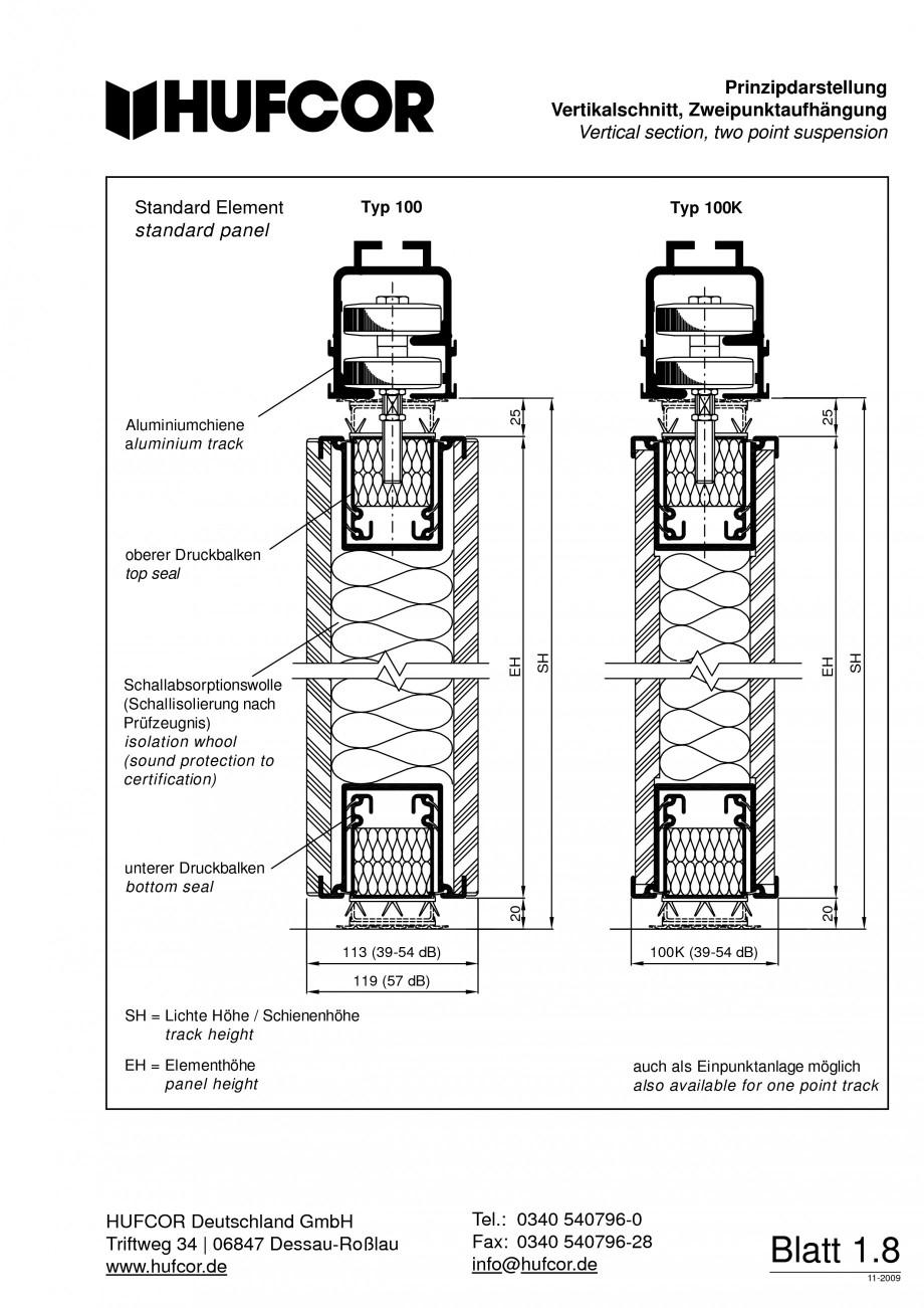 Pagina 9 - Pereti amovibili HUFCOR Fisa tehnica Engleza, Germana iftweg 34 | 06847 Dessau-Roßlau...