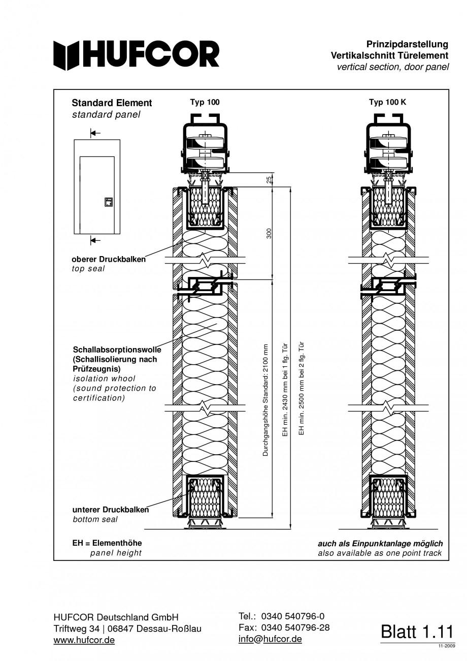 Pagina 12 - Pereti amovibili HUFCOR Fisa tehnica Engleza, Germana is 48 dB einfacher...